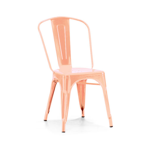 Our Dreux Light Rose Gold Stackable Steel Side Chair Set Of 4 Is On Sale Now
