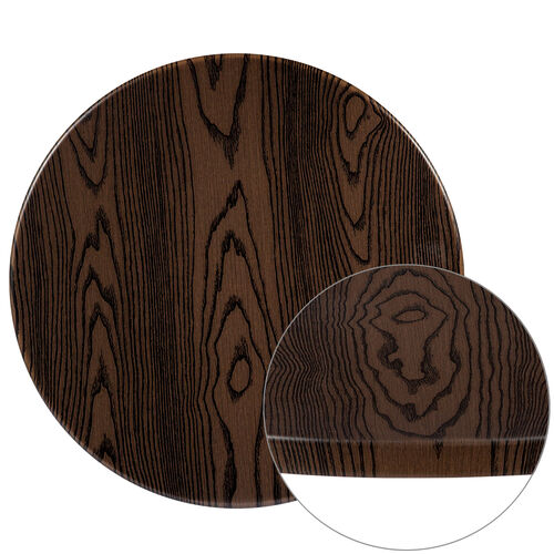 """Our 24"""" Round Rustic Wood Laminate Table Top is on sale now."""