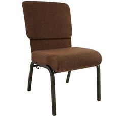Advantage Java Church Chair with Book Rack 20.5 in. Wide