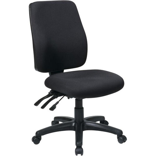 Our Work Smart High Back Dual Function Ergonomic Chair with Ratchet Back Height Adjustment - Black is on sale now.