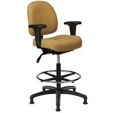 Pearl II 300 Series Small Back Single Shift Adjustable Swivel and Seat Height Stool