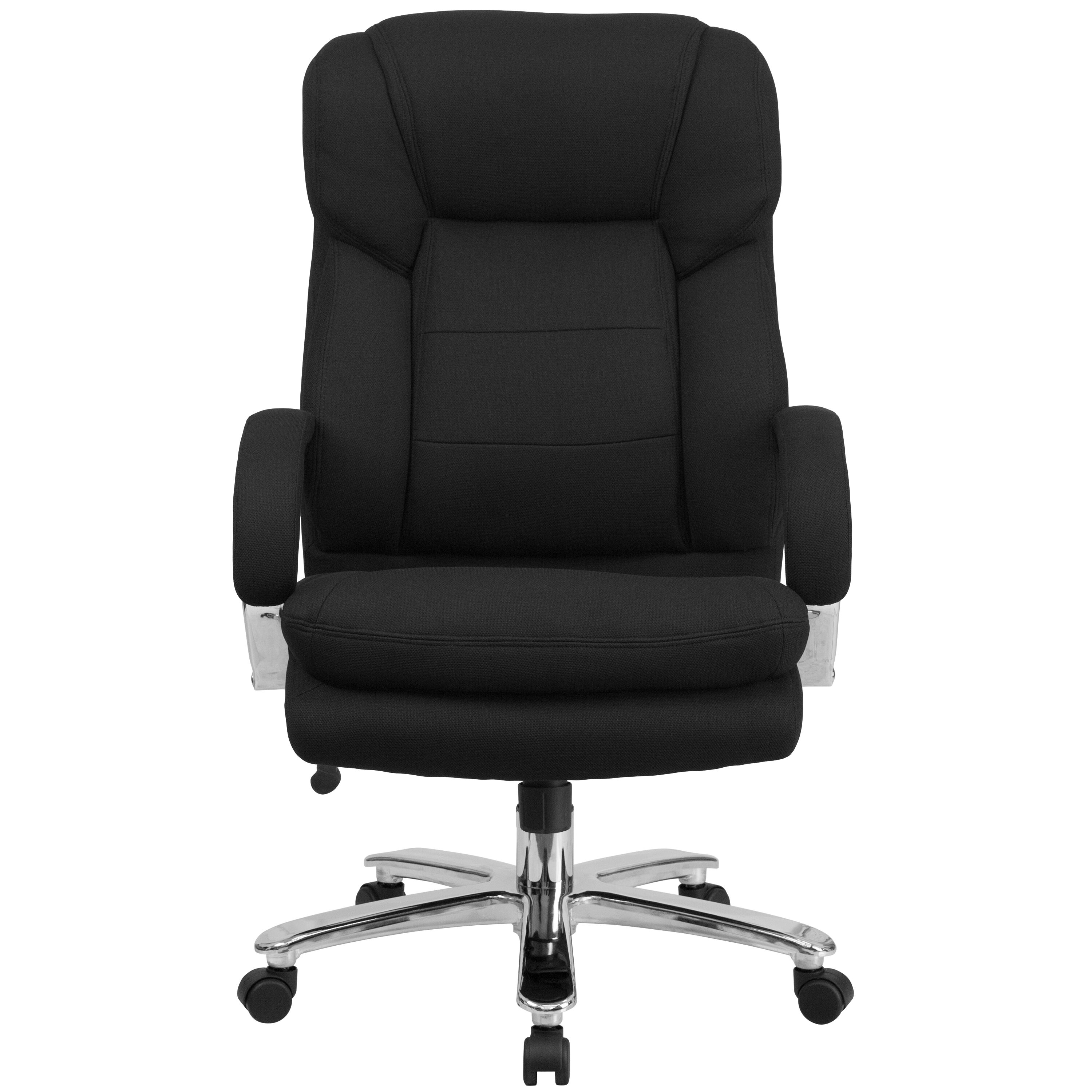 e186cd63e03 HERCULES Series 24 7 Intensive Use Big   Tall 500 lb. Rated Black Fabric  Executive Ergonomic Office Chair with Loop Arms