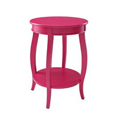 Rainbow Round Table with Shelf - Bubblegum
