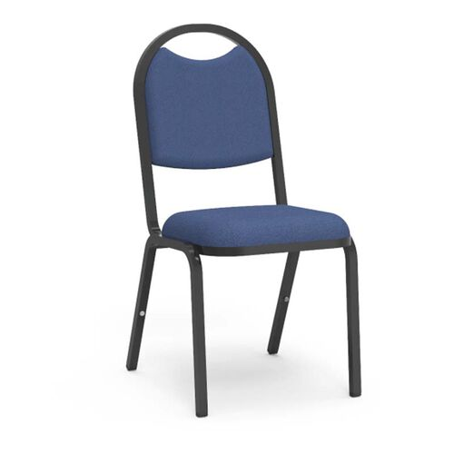 8900 Series Stack Chair with Round Back and Dome Seat in Sedona Sailor Fabric and Black Frame - 18