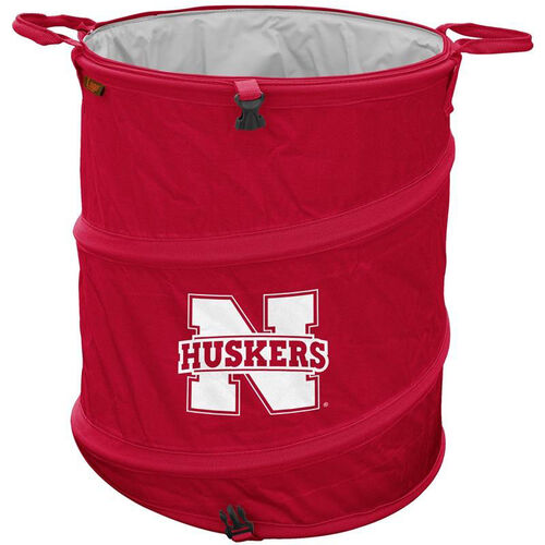 University of Nebraska Team Logo Collapsible 3-in-1 Cooler Hamper Wastebasket