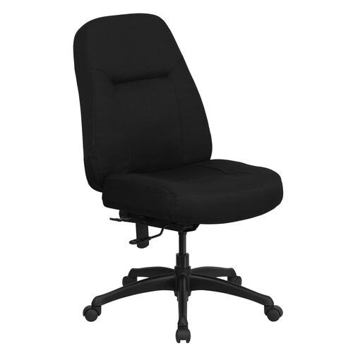 Our HERCULES Series 400 lb. Rated High Back Big & Tall Black Fabric Executive Swivel Ergonomic Office Chair is on sale now.