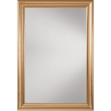 OSP Designs Savoy Rectangle Wall Mirror with Regency Gold Trim
