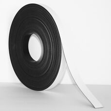.375''H x 50'L Colored Magnetic Strips - White
