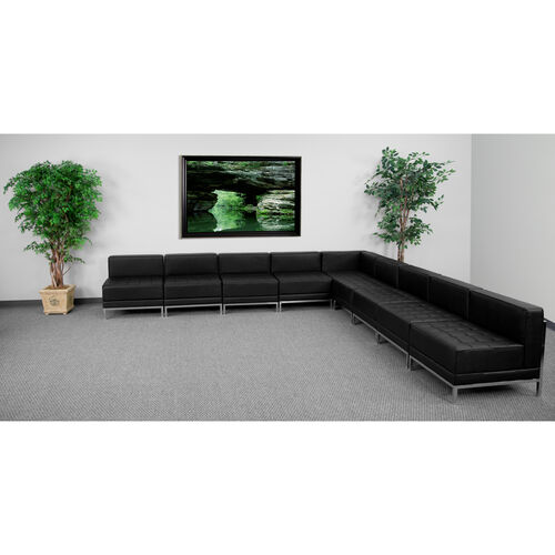 Our HERCULES Imagination Series Black LeatherSoft Sectional Configuration, 9 Pieces is on sale now.