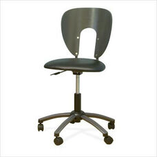 Futura Height Adjustable Office Chair with Metal 5 Star Base and Casters - Pewter and Black