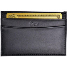 Prima Slim Card Case - Top Grain Nappa Leather - Black