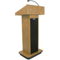 Executive 150 Watt Sound Column Lectern - Oak Finish - 22
