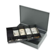Sparco All-Steel Locking Cash Box withTray