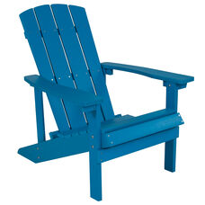 Charlestown All-Weather Adirondack Chair in Blue Faux Wood