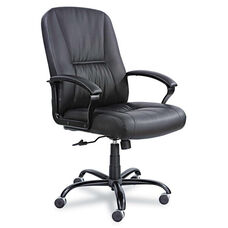 Safco® Serenity Big & Tall Leather Series High-Back Chair - Black Leather