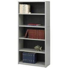 ValueMate® 67'' H Economy Five Shelf Bookcase - Gray