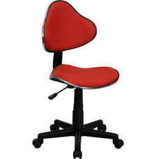 Red Fabric Swivel Ergonomic Task Office Chair