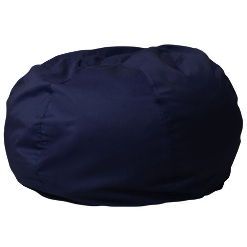 Our Oversized Solid Navy Blue Bean Bag Chair for Kids and Adults is on sale now.