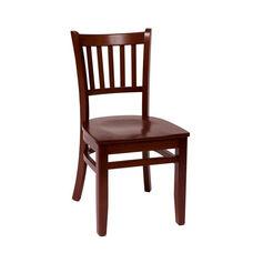 Delran Mahogany Wood Slat Back Chair - Wood Seat