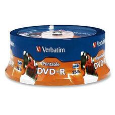 Verbatim 16X Inkjet/Hub Printable Dvd-R - Pack Of 25