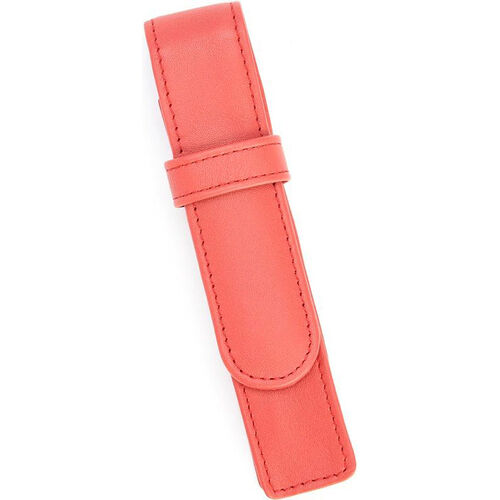 Our Single Pen Case - Top Grain Nappa Leather - Red is on sale now.