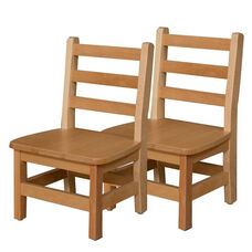 Solid Hardwood Chair with Tip Preventing Contoured Back Legs and Rounded Corners - Assembled - 13.75