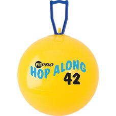 42 cm. FitPro Hop Along Junior Pon Pon Ball in Yellow - Ages 4-6
