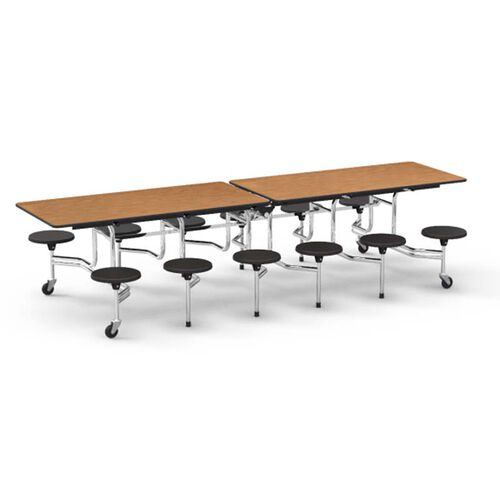 Our MTS Series Medium Oak Mobile Folding Table with 17