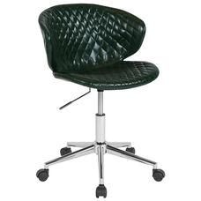 Cambridge Home and Office Upholstered Mid-Back Chair in Green Vinyl