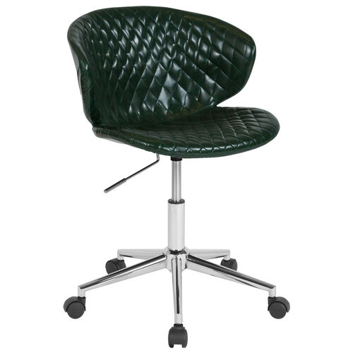 Our Cambridge Home and Office Upholstered Low Back Chair in Green Vinyl is on sale now.