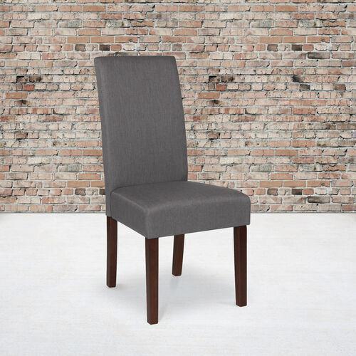 Greenwich Series Light Gray Fabric Parsons Chair