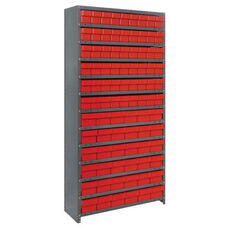 13 Shelf Closed Unit with 36 Large Drawers and 54 Small Drawers - Red