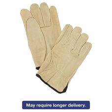 Memphis™ Unlined Pigskin Driver Gloves - Cream - Large - 12 Pairs