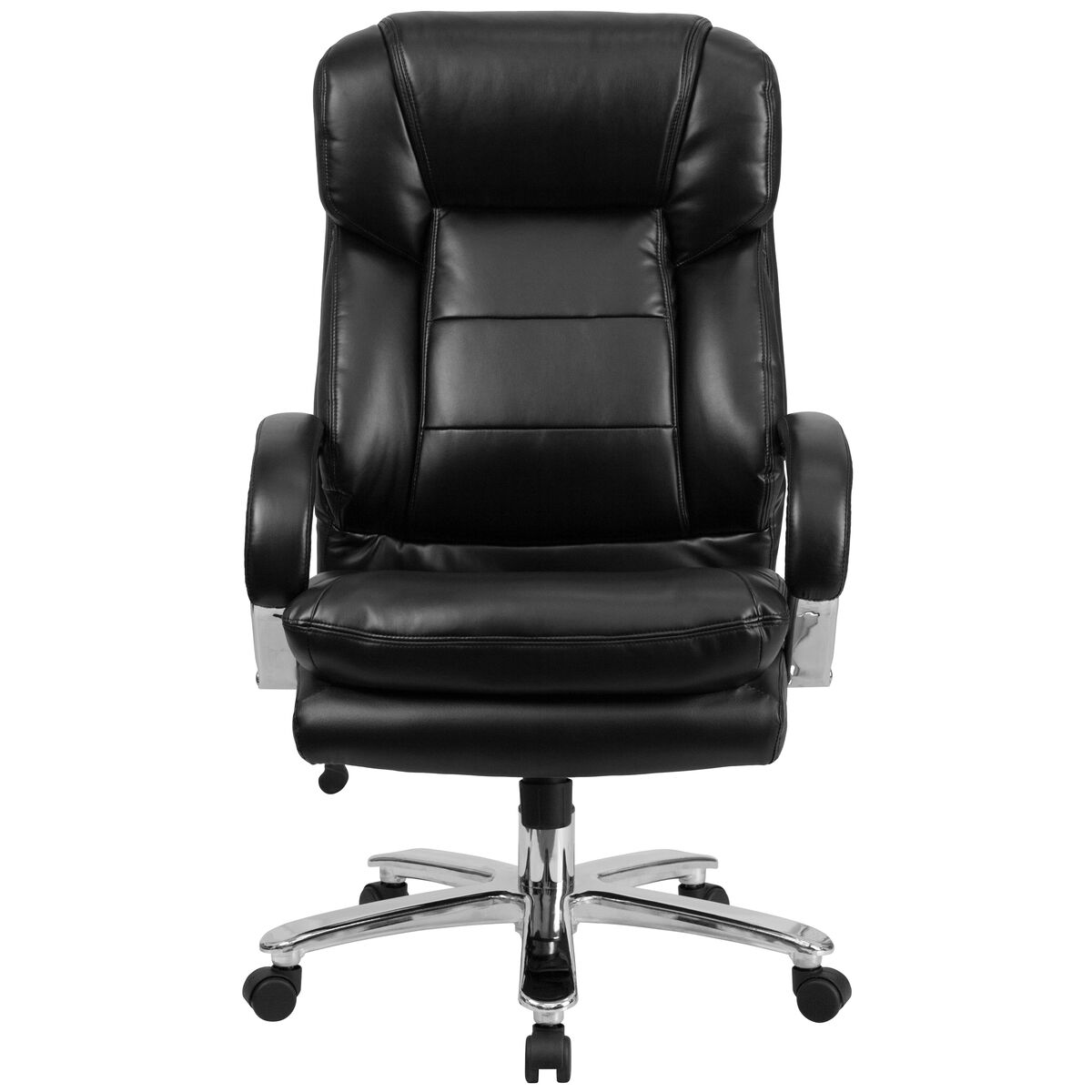 Flash Furniture Hercules Series 24 7 Intensive Use Big Tall 500 Lb Rated Black Leather