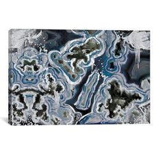 Royal Sterling Geode by 5by5collective Gallery Wrapped Canvas Artwork
