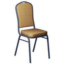 Sherpa Amber Fabric Upholstered Crown Back Banquet Chair - Silver Vein Frame