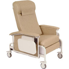 Drop Arm Care Recliner with Nylon Casters
