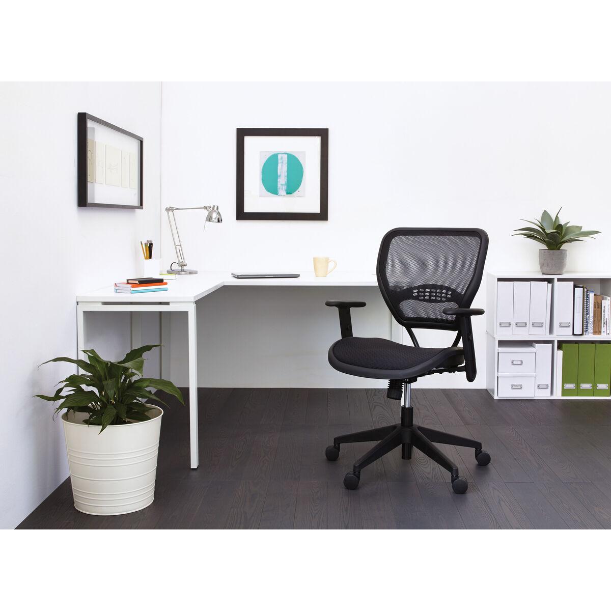 air grid black task chair 5560 bizchair com