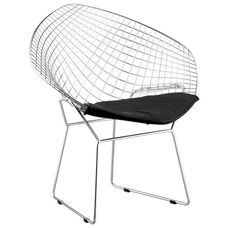 Net Chair with Black Cushion
