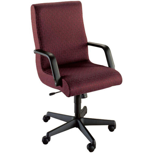 Quick Ship Scoop Executive Swivel Chair with Black Urethane Arms
