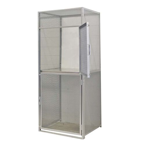 Heavy Duty Bulk Storage Double Tier Stock Starter Locker - Unassembled - 48
