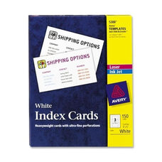 Avery Laser/Inkjet Index Card - Perforated - 3