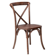 Rustic Sonoma Solid Wood Cross Back Stackable Dining Chair - Marian Fruitwood