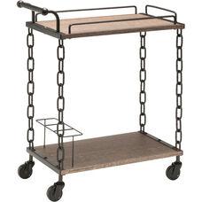 OSP Designs Danville Serving Cart - Calico and Matte Black