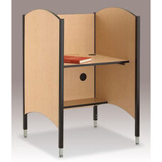 45.5''H to 57.5''H Adjustable Hi-Lo Study Carrel - Fusion Maple