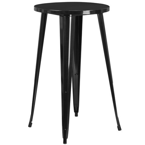 "Our Commercial Grade 24"" Round Metal Indoor-Outdoor Bar Height Table is on sale now."