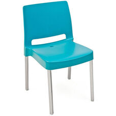 Pedrali Stackable Poly Shell Outdoor Chair in Aqua