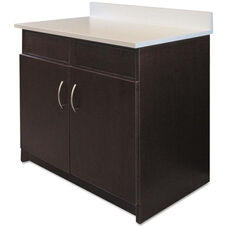 Alera Plus™ Hospitality Base Espresso Laminate Cabinet with 2 Flipper Doors - 36
