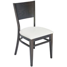 Classic Indoor Collection Beechwood Solid Half Back Side Chair - Walnut