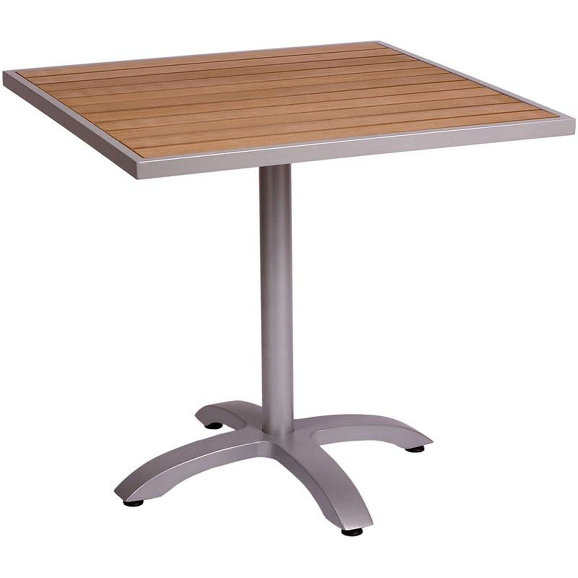Square Teak Top Dining Table Ph3636tksv Phtb2626sv